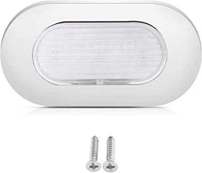 Interior LED Ceiling Light with Switch for Marine Dome 3000K Surface Mount