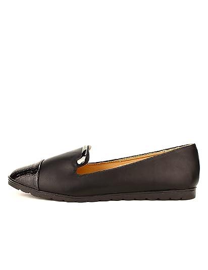 Cendriyon Mocassin Bi Noir 41 Chaussures Femme Croco Taille matière qFqgTnwWr