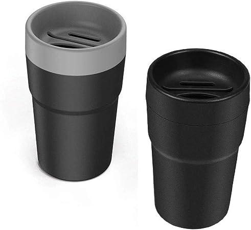 Amasawa 2 Stück Auto Mülltonne Kunststoff Auto Mülleimer Organizer Aufbewahrungs Box Coin Organizer Tissue Box Mit Kartenhalter Münzbecher Für Autoinnenraum Büro Zuhause Auto