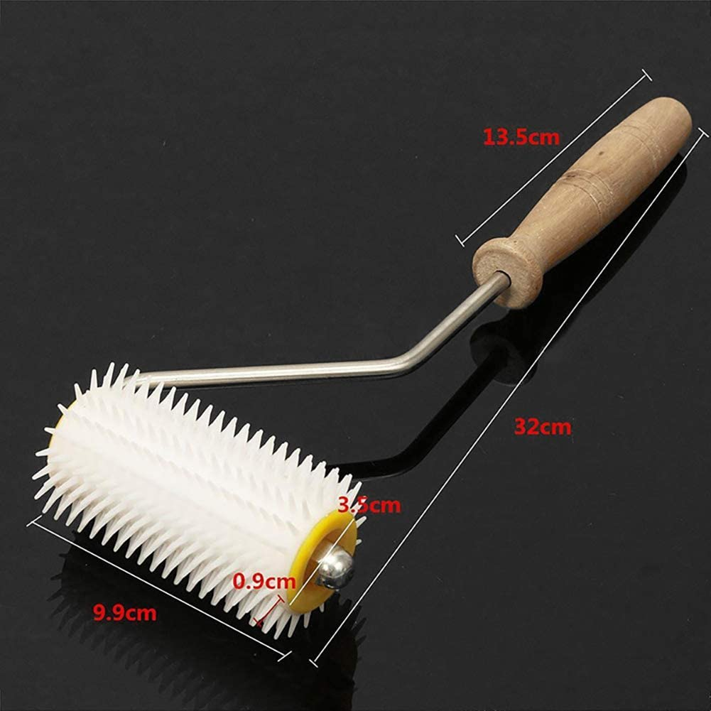 Beekeeping Equipment Accessories Beekeeping Tool With Wooden Handle For Honey Extraction Hand Spiked Roller