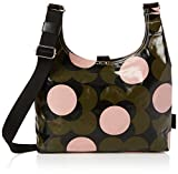 Orla Kiely Shiny Laminated Shadow Flower Print Midi Sling Bag, Forest