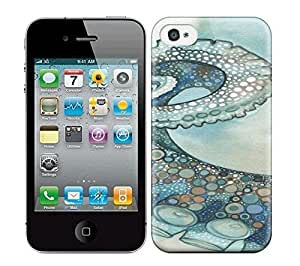 Best Power(Tm) HD Colorful Painted Watercolor Octopus Tentacle Arm Hard Phone Case For Iphone 4/4S