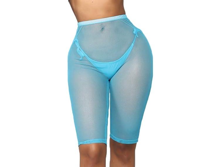 5a7c253c3c7fdb Multitrust Sexy Women See Through Sheer Swimsuit Cover Up Short Pants  Bikini Bottom Cover-up