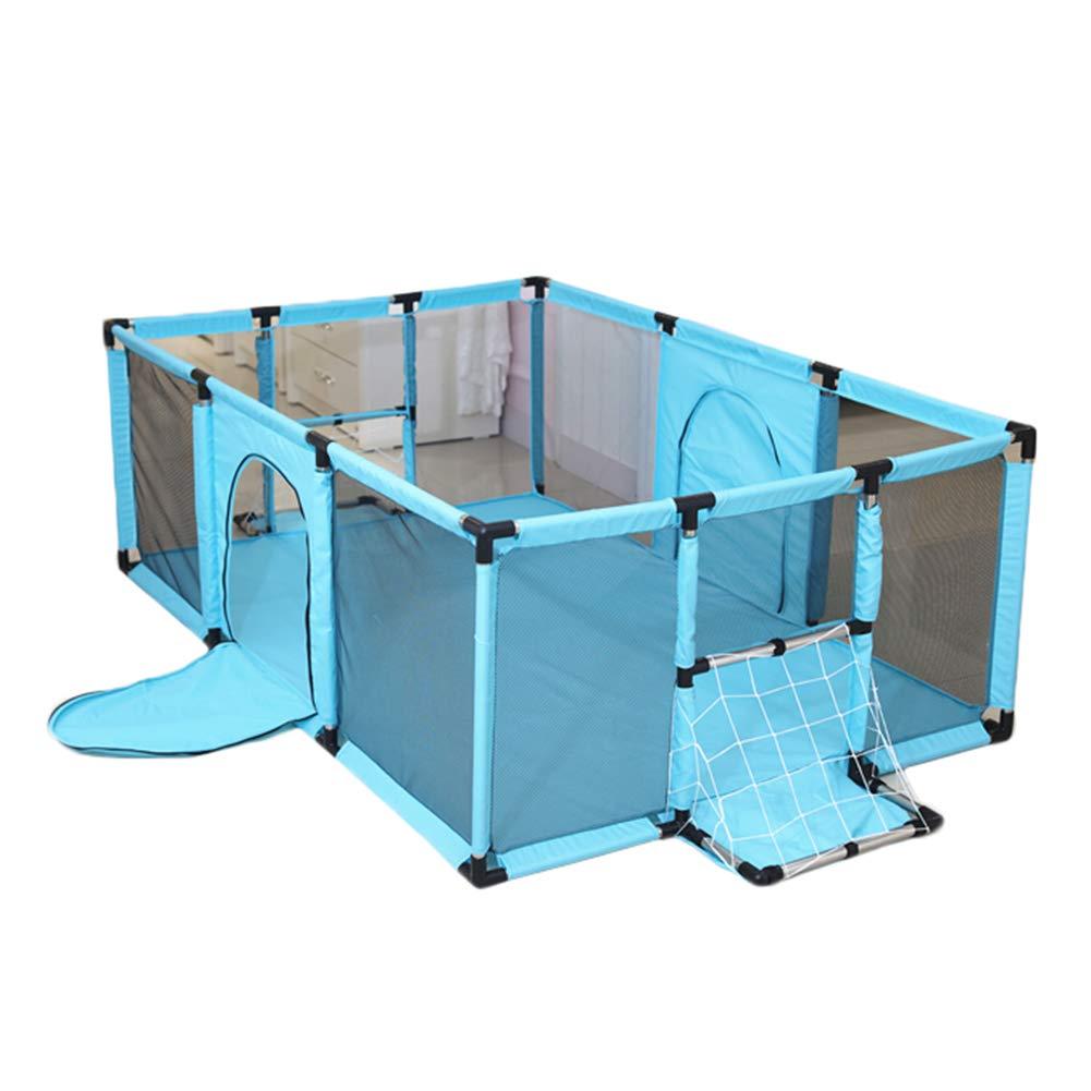 幼児用大型ベビープレイペン ドア付きポータブルプレイヤード 自立式子ども用保護フェンス (180x120cm 高さ62cm) グリーン  グリーン B07MNSH6QC