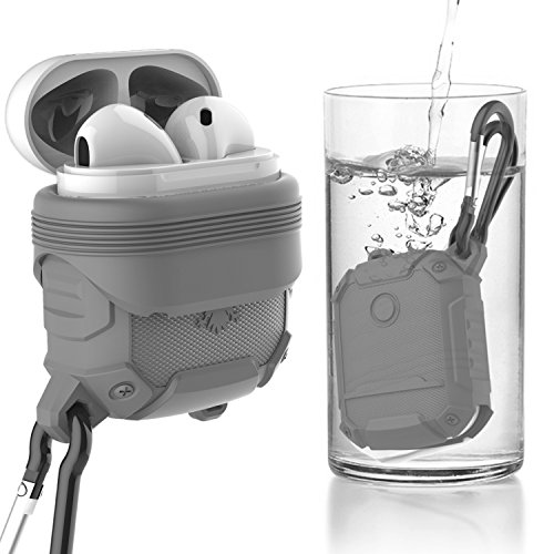 Price comparison product image Moretek Air Pods Case Waterproof IP67 for Apple Airpods (Grey Eagle)