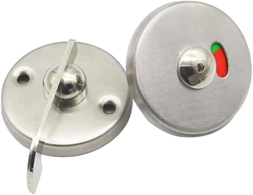 Pomo indicador giratorio para puerta de inodoro, color rojo y verde, con cerradura WC Vacante, con cabezal de bala giratorio para puerta de inodoro, perno indicador