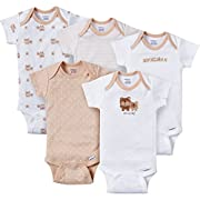 Gerber Baby-Boys Variety Onesies Brand Bodysuits, Adorable Bears, 6-9 Months (Pack of 5)