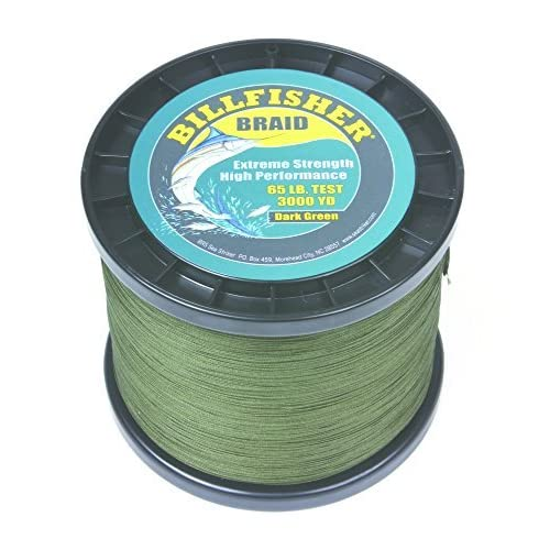 Image of Billfisher BB3000-65 Braid, 65 lb/3000 yd, Dark Green Artificial Bait