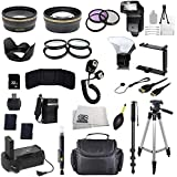 The EVERYTHING YOU NEED Package for Nikon D3100 D3200 D3300 D3400 D5100 D5200 D5300 D5500 D5600 Df Digital Cameras & Nikon Lens with 52mm Filter Thread