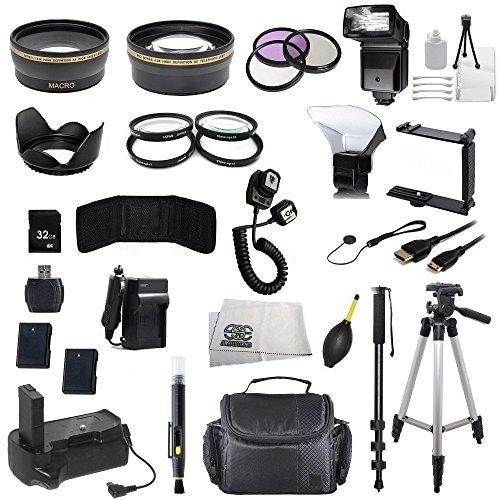 The Package for Nikon D3100 D3200 D3300 D3400 D5100 D5200 D5300 D5500 D5600 Df Digital Cameras & Nikon Lens with 52mm Filter Thread