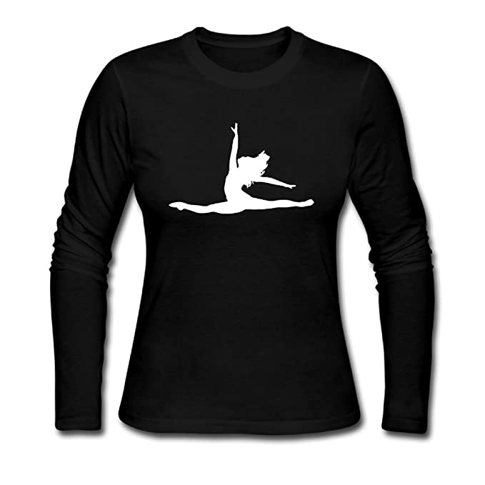 d7fdf3a4891ef6 Ballet Dancer Women's Soft Long Sleeve Round Neck Pullover Sweatshirt  Pullover Shirt Tops: Amazon.ca: Clothing & Accessories