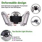 100W Deformable LED Garage Light Ceiling Light Factory Warehouse Industrial Lighting, 10000 Lumen IP65 Waterproof… 11