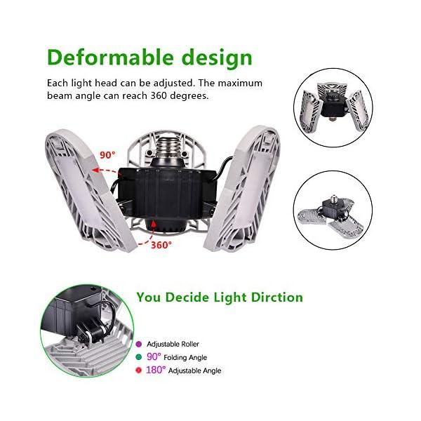 100W Deformable LED Garage Light Ceiling Light Factory Warehouse Industrial Lighting, 10000 Lumen IP65 Waterproof… 4