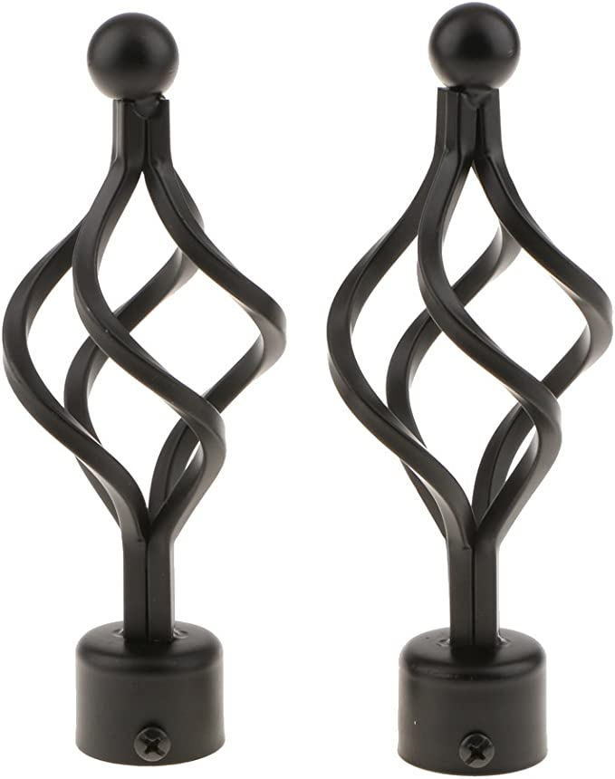 Black Nickel 90-160 cm Kestral Palermo Cage Finial 28 mm Extendable Metal Curtain Pole Rods Voile Easy Fitting