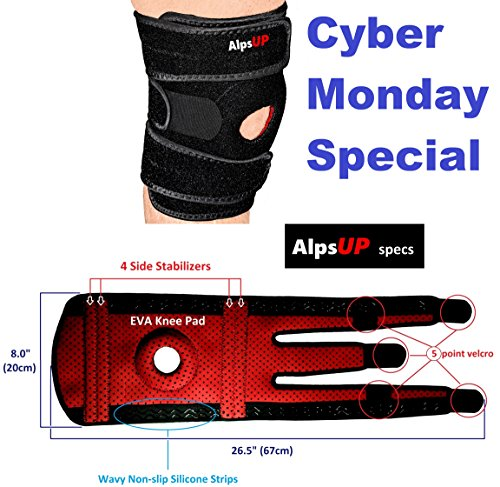 Take care of your health with Triple Brace, XL Knee Brace Support, Fits Most, Comfort Fit Breathable Neoprene Open Patella Stabilizer, Relieves Pain & Injury, Meniscus Tear, Best Non-Slip Tech