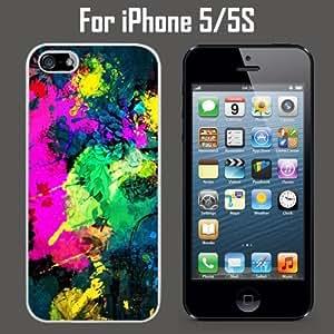 Colorful Paint Splatter Custom Case/ Cover/Skin *NEW* Case for Apple iPhone 5/5S - White - Plastic Case (Ships from CA) Custom Protective Case , Design Case-ATT Verizon T-mobile Sprint ,Friendly Packaging - Slim Case hjbrhga1544 by ruishername