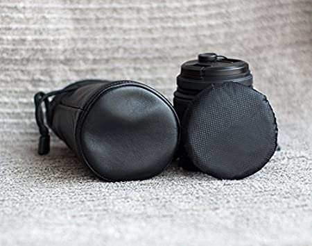 28-300mm for Nikon Camera Lens Genuine Lamskin Leather Case Pouch Cover Bag