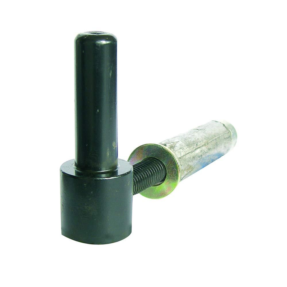 Zingu/é blanc Gond /à visser longueur 105 mm. Diam/ètre 16 mm cheville