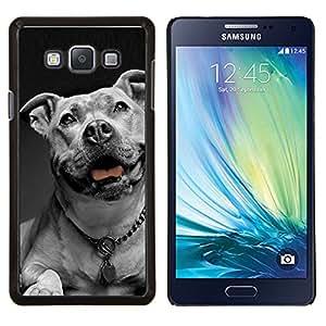 Americana collar de perro Dogo blanco Negro- Metal de aluminio y de plástico duro Caja del teléfono - Negro - Samsung Galaxy A7 / SM-A700