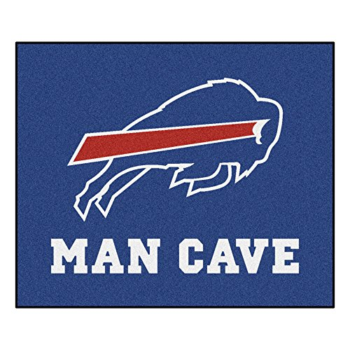 FANMATS 14275 NFL Buffalo Bills Nylon Universal Man Cave Tailgater Rug