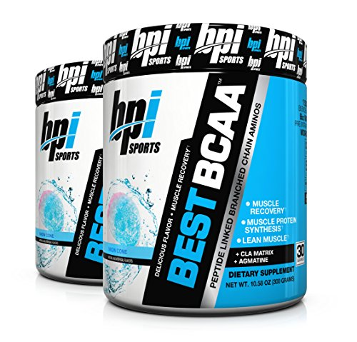 BPI Sports Best BCAA Peptide Linked Branched Chain Amino Energy Powder, 10.58oz, Pack of Two 30 Servings (BlueRaspberry 2 x 30svg)