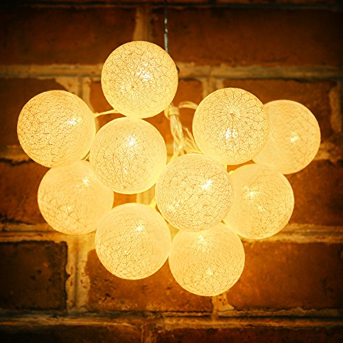 tophome-round-string-lights-romantic-warm-white-waterproof-clear-line-with-usb-battery-box-for-indoo