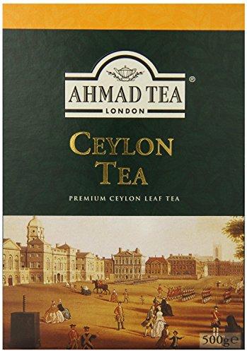 Ahmad Tea of London : Ceylon Tea (loose tea) 500ge/17.6 oz. 1 Beautiful golden color and memorable character Try serving Ahmad Ceylon black tea with milk or a slice of lemon Ahmad Tea is a member of the United Kingdom Tea Council