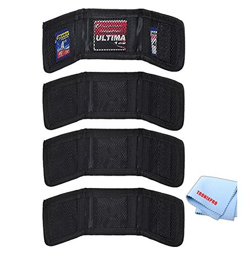 (Four (4) Small, Soft and Foldable Poket Size Memory Card Holder Sd/sdhc & Microfiber Cloth)