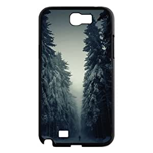 trees with snow in forest Samsung Galaxy Note 2 Case Black