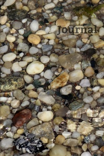 Journal: 6 x 9 Journal Notebook,Beach Pebble Stones Cover, Blank Writing Journal with Lines (Diary, Daily Planner), Ruled Journal, White Paper, 110 Durable Lined Pages