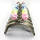 GuoFa 10 PCS/Lot Jelly Candy Beads Head Purse Frame Half_Round Coin Purse Bronze Metal Frames DIY Sewing Bag Accessories 8.5CM