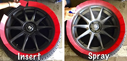 Plasti Shields - Reusable Wheel Paint Shields - Mask Your Wheels in 30 Seconds - 92 Textured Cards for 4 Wheels at a Time by Plasti Shields