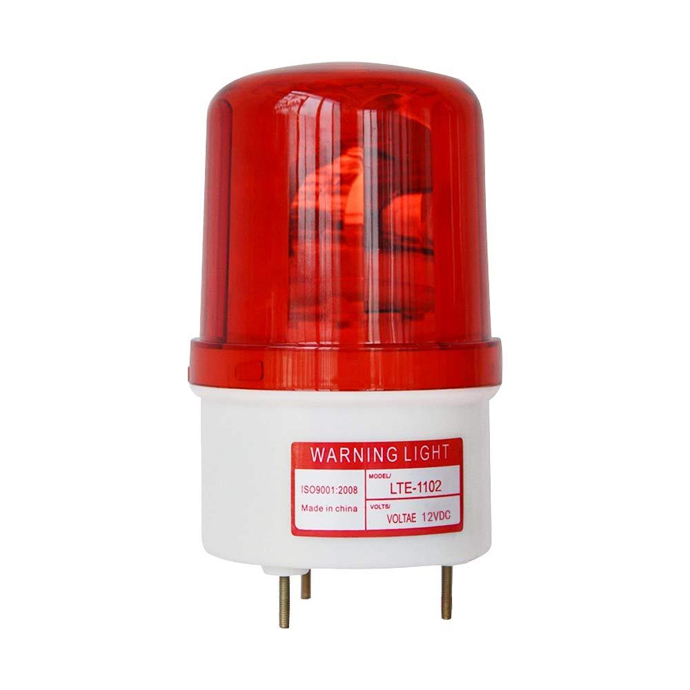 LTE-1102 DC12V Rotary Warning Lamp Revolving Light Beacon Warning Light with Bolt Bottom 102MM Diameter