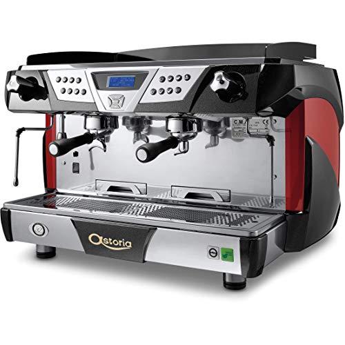 (Astoria Plus 4 You Automatic 2 Group Espresso Machine SAE Red/Black )