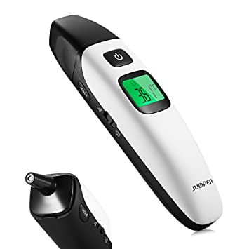 Ratighting Baby Smart Digital Thermometer Dual Mode for Ear and Forehead with Silent Mode for Infant