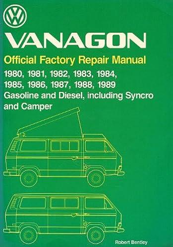 volkswagen vanagon official factory repair manual 1980 1981 1982 rh amazon com 2000 VW Rabbit Pick Up Vintage VW Service Manuals