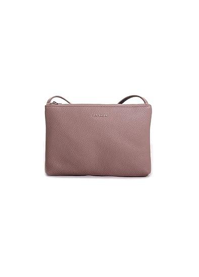 2017a9e90f7 Ted Baker London Cottii Color Block Soft Grain Leather Crossbody Handbag in  Taupe Black: Amazon.co.uk: Clothing