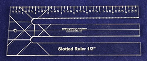 quilting slotted ruler - 7