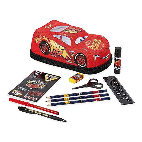 Disney Lightning McQueen Zip-Up Stationery Kit (Button Cars Mcqueen Lightning)