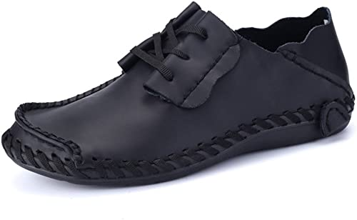 Casual Leather Driving Shoes Wide Fit