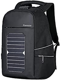 Men's Laptop Backpack with USB Port Charger Solar Charger For Travel Anti-theft Eco-friendly Canvas Daypack School Business