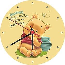 Cuties Baby Winnie The Pooh Sweet Little Smiles Wall Clock