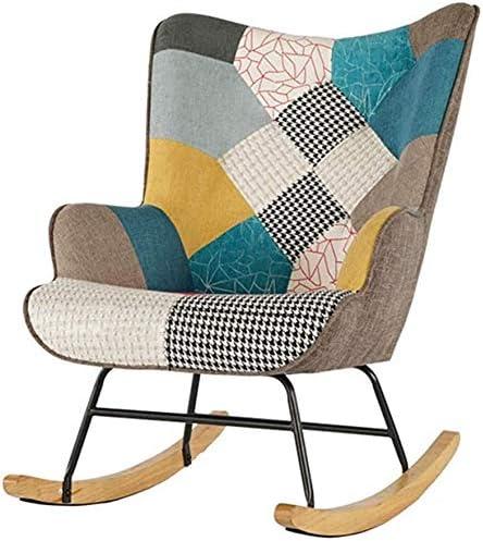 Respaldados por la alta ocasional sillón mecedora jardín al aire libre con tumbonas silla casa de software sillón balcón salón silla mecedora,A: Amazon.es: Hogar