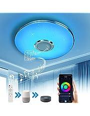 Wayrank Lampa sufitowa LED z głośnikiem Bluetooth