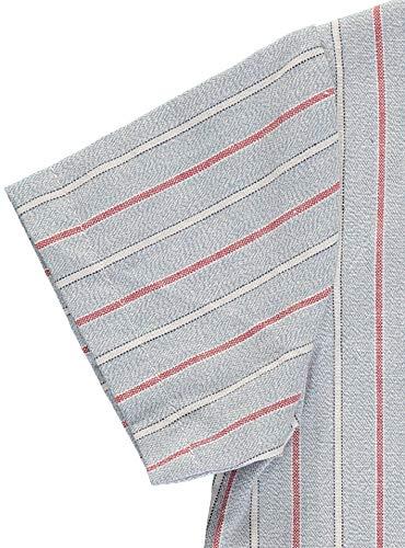 Piccino Piccina Boys Short Sleeve Causal Dress Shirt Blue Collarless