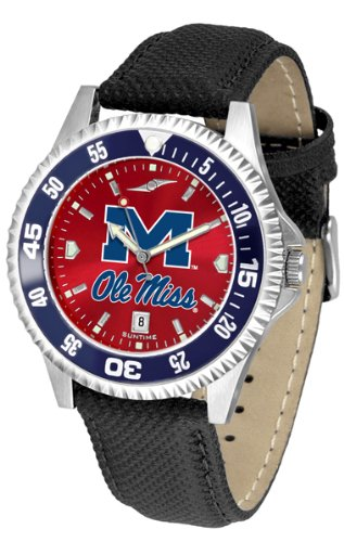 Watch Competitor Rebels - Mississippi Rebels Competitor AnoChrome Men's Watch - Color Bezel