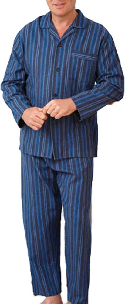Uomo Cotone Spazzolato Set Pigiama Abbigliamento Da Notte Flanella Di Cotone Pigiama Motivo A Righe Design