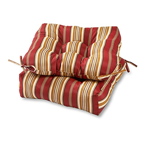 Dining Room Chaise Outdoor (Greendale Home Fashions 20-inch Outdoor Chair Cushion (set of 2), Roma Stripe)