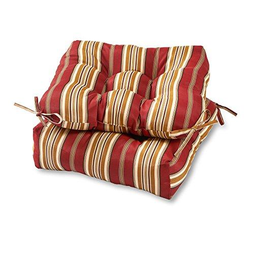 Greendale Home Fashions 20-inch Outdoor Chair Cushion (set of 2), Roma Stripe (Furniture Yard Cushions)