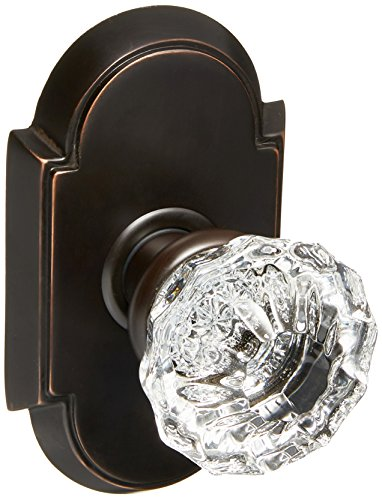 Arched Rosette Set With Fluted Crystal Knobs Passage In Oil Rubbed Bronze. Old Door Knobs And ()
